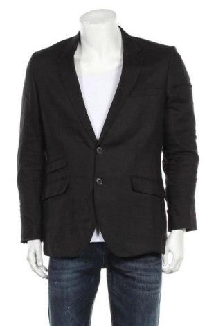 Мъжко сако H&M, Размер M, Цвят Черен, Лен, Цена 19,20лв.