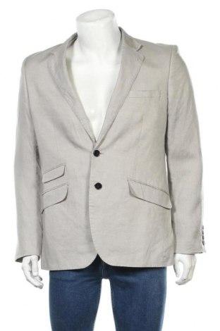 Мъжко сако H&M, Размер L, Цвят Сив, 100% лен, Цена 22,80лв.