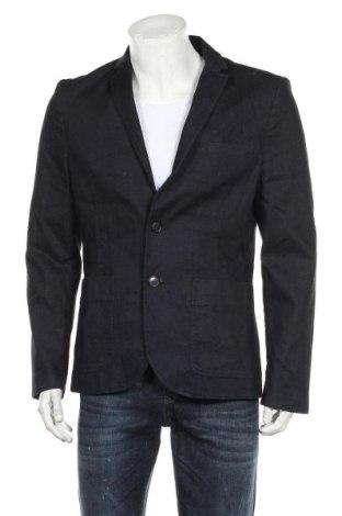 Мъжко сако H&M, Размер L, Цвят Син, 98% памук, 2% еластан, Цена 24,57лв.