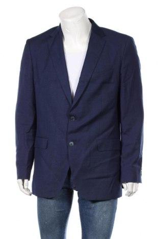 Мъжко сако Hugo Boss, Размер L, Цвят Син, 84% вълна, 14% лен, 2% коприна, Цена 41,16лв.