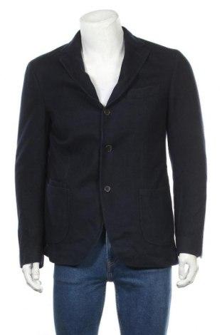 Ανδρικό σακάκι Massimo Dutti, Μέγεθος L, Χρώμα Μπλέ, Κασμίρι, Τιμή 23,45€