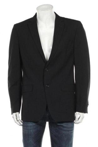 Ανδρικό σακάκι Massimo Dutti, Μέγεθος L, Χρώμα Μαύρο, Μαλλί, Τιμή 24,12€