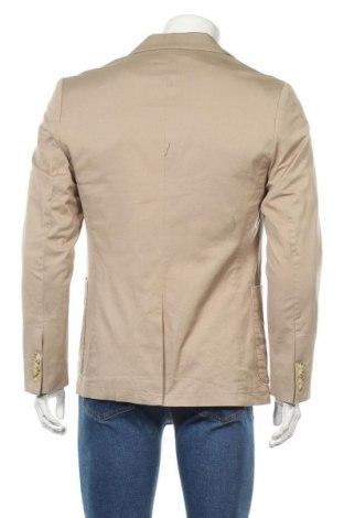 Мъжко сако Pier One, Размер M, Цвят Бежов, 98% памук, 2% еластан, Цена 43,61лв.