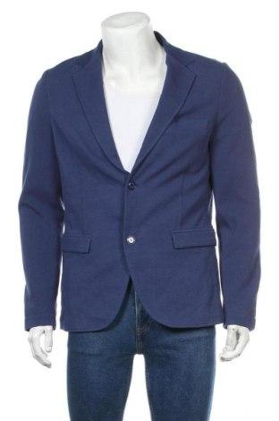Мъжко сако S.Oliver, Размер L, Цвят Син, 85% памук, 15% полиестер, Цена 33,58лв.