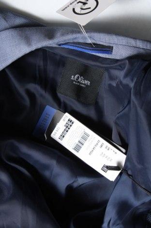 Мъжко сако S.Oliver, Размер M, Цвят Син, 68% полиестер, 29% вискоза, 3% еластан, Цена 141,75лв.