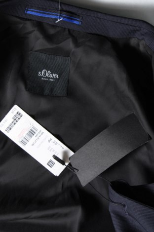 Мъжко сако S.Oliver, Размер XL, Цвят Син, 71% полиестер, 27% вискоза, 2% еластан, Цена 49,75лв.