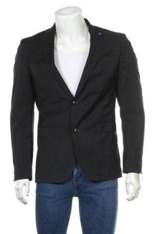 Мъжко сако S.Oliver, Размер M, Цвят Черен, 98% вълна, 2% еластан, Цена 71,82лв.