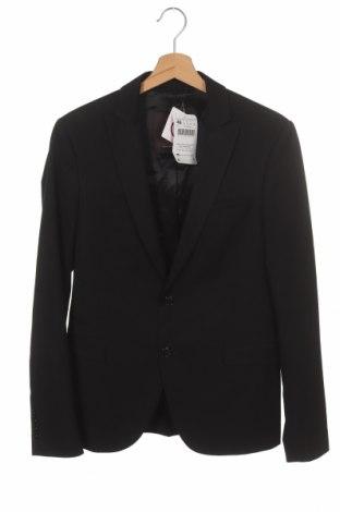 Мъжко сако Zara Man, Размер S, Цвят Черен, 72% полиестер, 22% вискоза, 6% еластан, Цена 42,72лв.