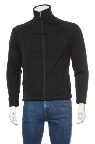 Мъжко спортно горнище Zara, Размер S, Цвят Черен, 80% полиестер, 17% вискоза, 3% еластан, Цена 33,80лв.