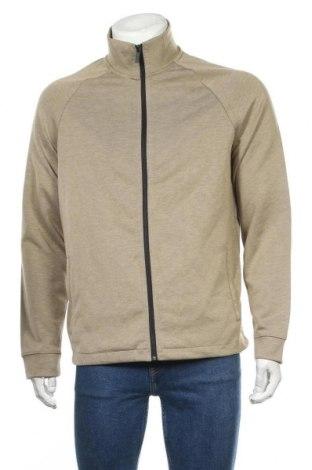Мъжко спортно горнище Zara, Размер L, Цвят Бежов, 80% полиестер, 17% вискоза, 3% еластан, Цена 35,28лв.