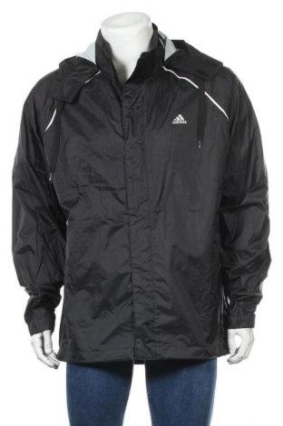 Ανδρικό αθλητικό μπουφάν Adidas, Μέγεθος L, Χρώμα Μαύρο, Πολυαμίδη, Τιμή 15,46€