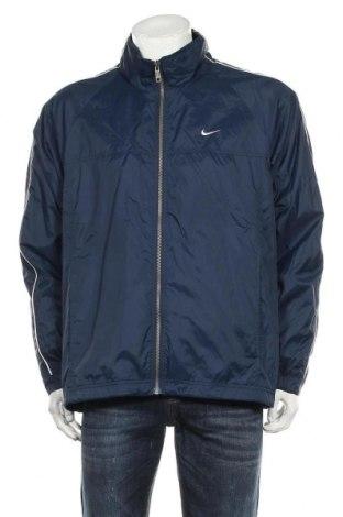 Мъжко спортно яке Nike, Размер L, Цвят Син, Полиестер, Цена 30,24лв.