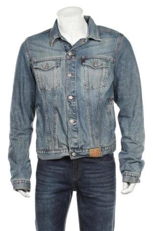 Ανδρικό μπουφάν Guess, Μέγεθος L, Χρώμα Μπλέ, Βαμβάκι, Τιμή 32,01€