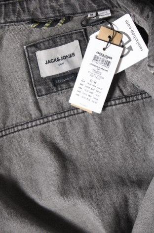 Мъжко яке Jack & Jones, Размер M, Цвят Сив, Памук, Цена 54,45лв.