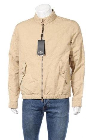 Мъжко яке Massimo Dutti, Размер XL, Цвят Бежов, 52% лен, 48% памук, Цена 50,37лв.