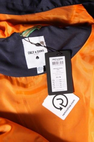 Мъжко яке Only & Sons, Размер S, Цвят Син, Полиестер, Цена 34,71лв.