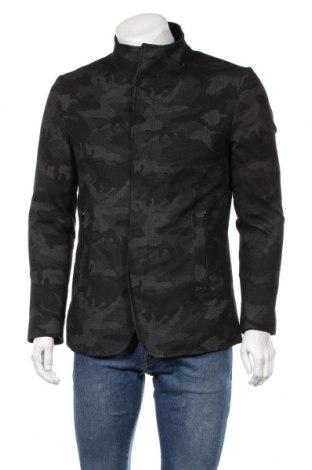 Мъжко яке Zara, Размер M, Цвят Черен, 47% памук, 33% полиестер, 17% вискоза, 3% еластан, Цена 39,69лв.