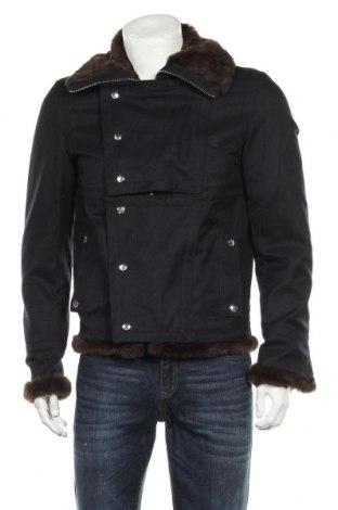 Мъжко яке Zara Man, Размер M, Цвят Син, 59% полиестер, 41% вискоза, Цена 57,33лв.