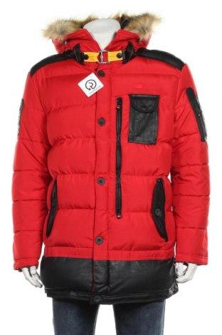 Мъжко спортно яке Geographical Norway, Размер L, Цвят Червен, Полиестер, еко кожа, Цена 246,75лв.