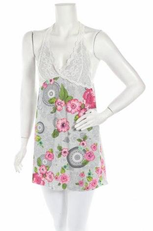 Пижама Desigual, Размер L, Цвят Сив, 91% вискоза, 5% еластан, 4% полиамид, Цена 74,25лв.