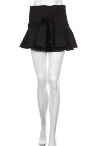 Пола - панталон Zara, Размер M, Цвят Черен, 90% полиестер, 10% еластан, Цена 35,36лв.