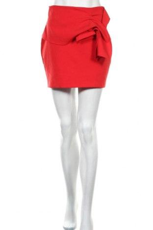 Sukně Zara, Velikost S, Barva Červená, 90% polyester, 10% elastan, Cena  491,00Kč