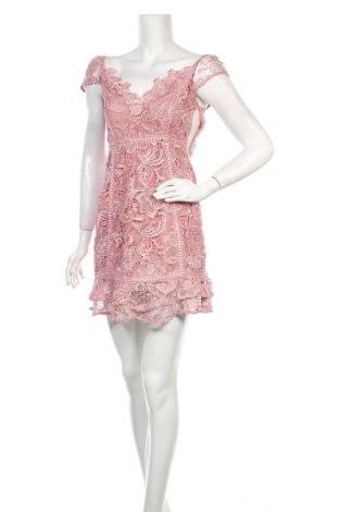 Φόρεμα Guess, Μέγεθος S, Χρώμα Ρόζ , Πολυεστέρας, Τιμή 44,54€