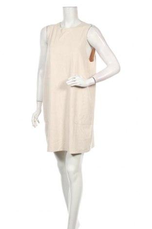 Φόρεμα Zara, Μέγεθος XL, Χρώμα  Μπέζ, 95% πολυεστέρας, 5% ελαστάνη, Τιμή 12,63€