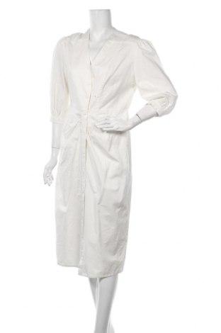 Рокля Zara, Размер M, Цвят Екрю, 78% памук, 22% лен, Цена 27,65лв.