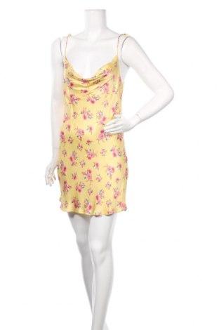 Рокля Zara, Размер S, Цвят Жълт, Вискоза, Цена 51,75лв.