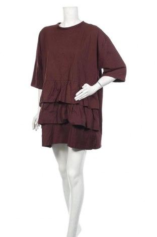 Рокля Zara, Размер M, Цвят Кафяв, Памук, Цена 37,95лв.