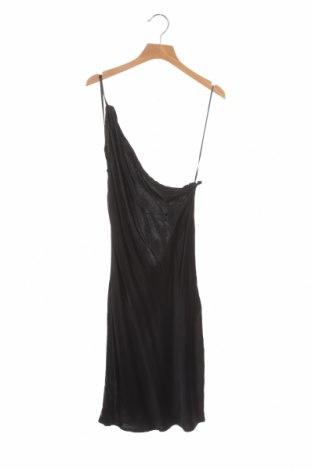 Рокля Zara, Размер XS, Цвят Черен, Вискоза, Цена 51,75лв.