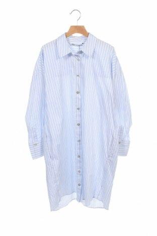 Φόρεμα Zara, Μέγεθος XS, Χρώμα Μπλέ, 96% βαμβάκι, 4% ελαστάνη, Τιμή 19,56€