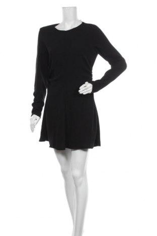 Рокля Zara, Размер L, Цвят Черен, Полиестер, Цена 20,65лв.