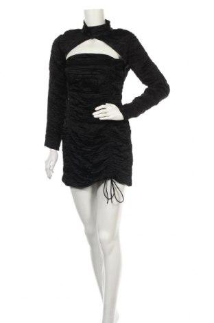 Рокля Zara, Размер M, Цвят Черен, 50% лиосел, 50% вискоза, Цена 31,15лв.