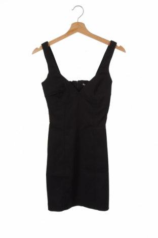 Рокля Zara, Размер XS, Цвят Черен, 53% памук, 44% полиестер, 3% еластан, Цена 44,25лв.