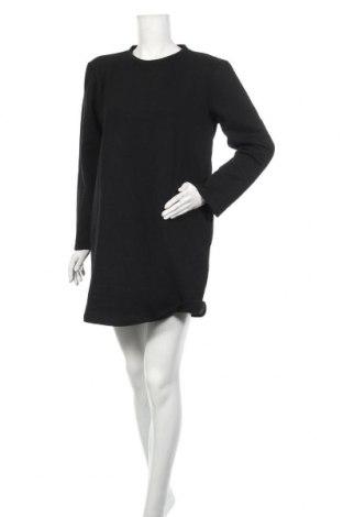 Рокля Zara, Размер M, Цвят Черен, 51% полиестер, 49% памук, Цена 32,45лв.