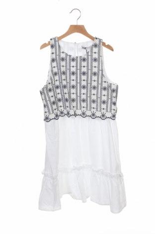 Рокля Zara, Размер XS, Цвят Бял, Памук, Цена 44,25лв.