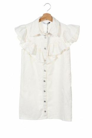 Рокля Zara, Размер XS, Цвят Бял, Памук, Цена 40,12лв.