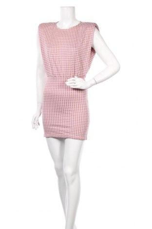 Рокля Zara, Размер S, Цвят Розов, 55% полиестер, 44% памук, 1% еластан, Цена 51,75лв.