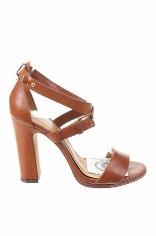 Sandály Massimo Dutti, Velikost 36, Barva Hnědá, Pravá kůže, Cena  909,00Kč