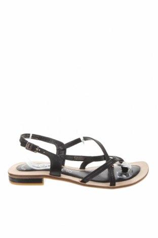 Σανδάλια S.Oliver, Μέγεθος 42, Χρώμα Μαύρο, Γνήσιο δέρμα, Τιμή 25,98€