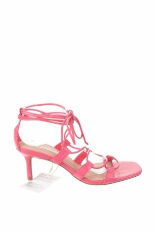 Sandály Stradivarius, Velikost 37, Barva Růžová, Eko kůže, Cena  522,00Kč