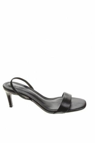 Sandály Zara, Velikost 39, Barva Černá, Pravá kůže, textile , Cena  622,00Kč