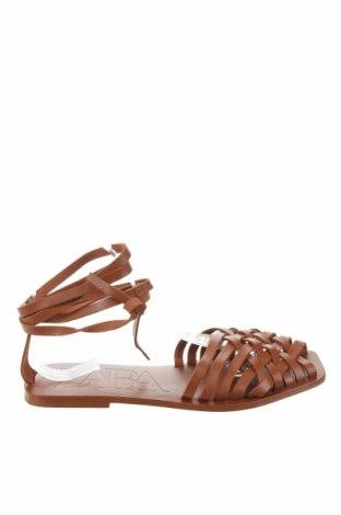 Sandály Zara, Velikost 38, Barva Hnědá, Pravá kůže, Cena  670,00Kč