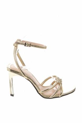 Sandály Zara, Velikost 38, Barva Zlatistá, Eko kůže, Cena  550,00Kč