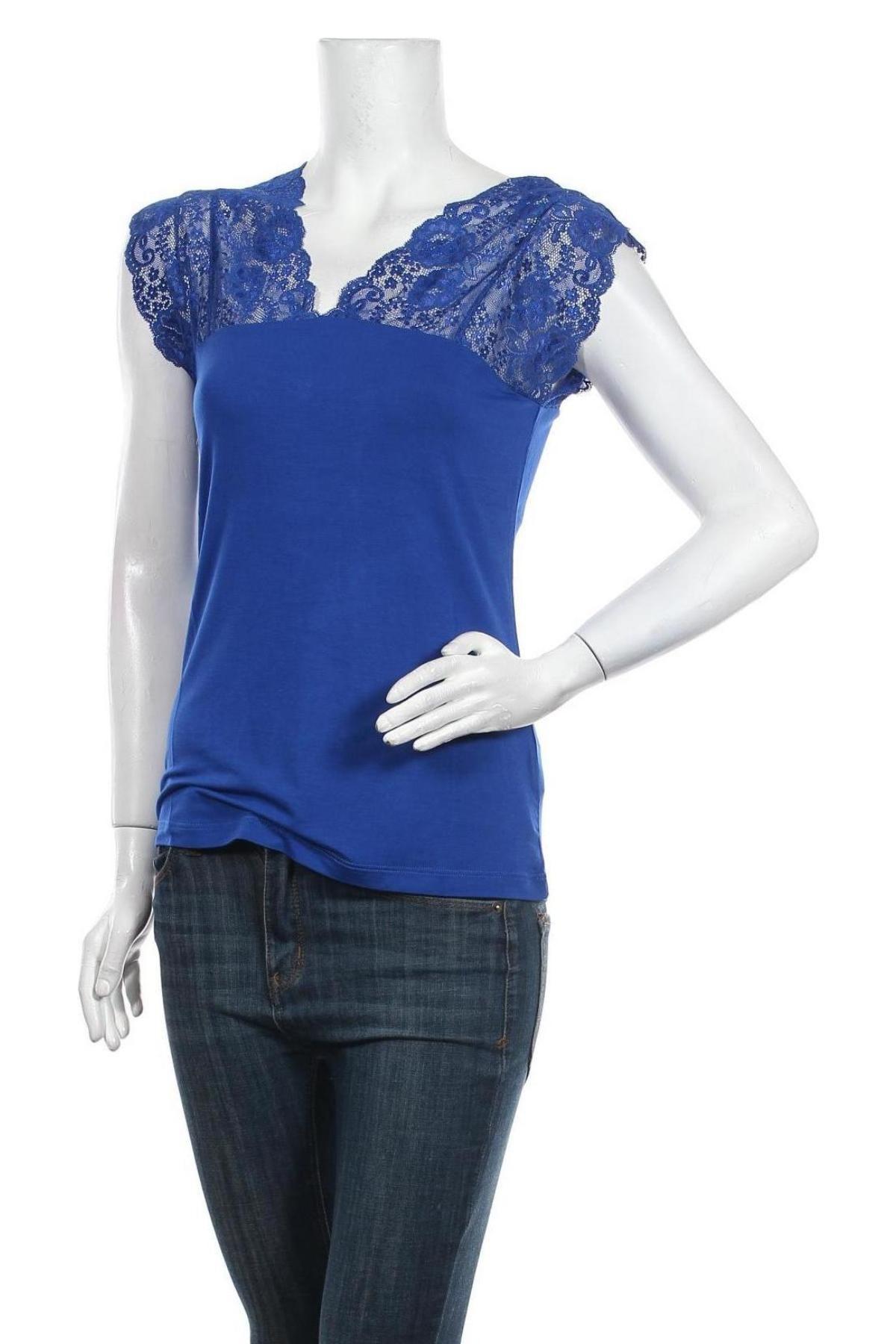 Дамска блуза Culture, Размер M, Цвят Син, 95% вискоза, 5% еластан, Цена 16,59лв.