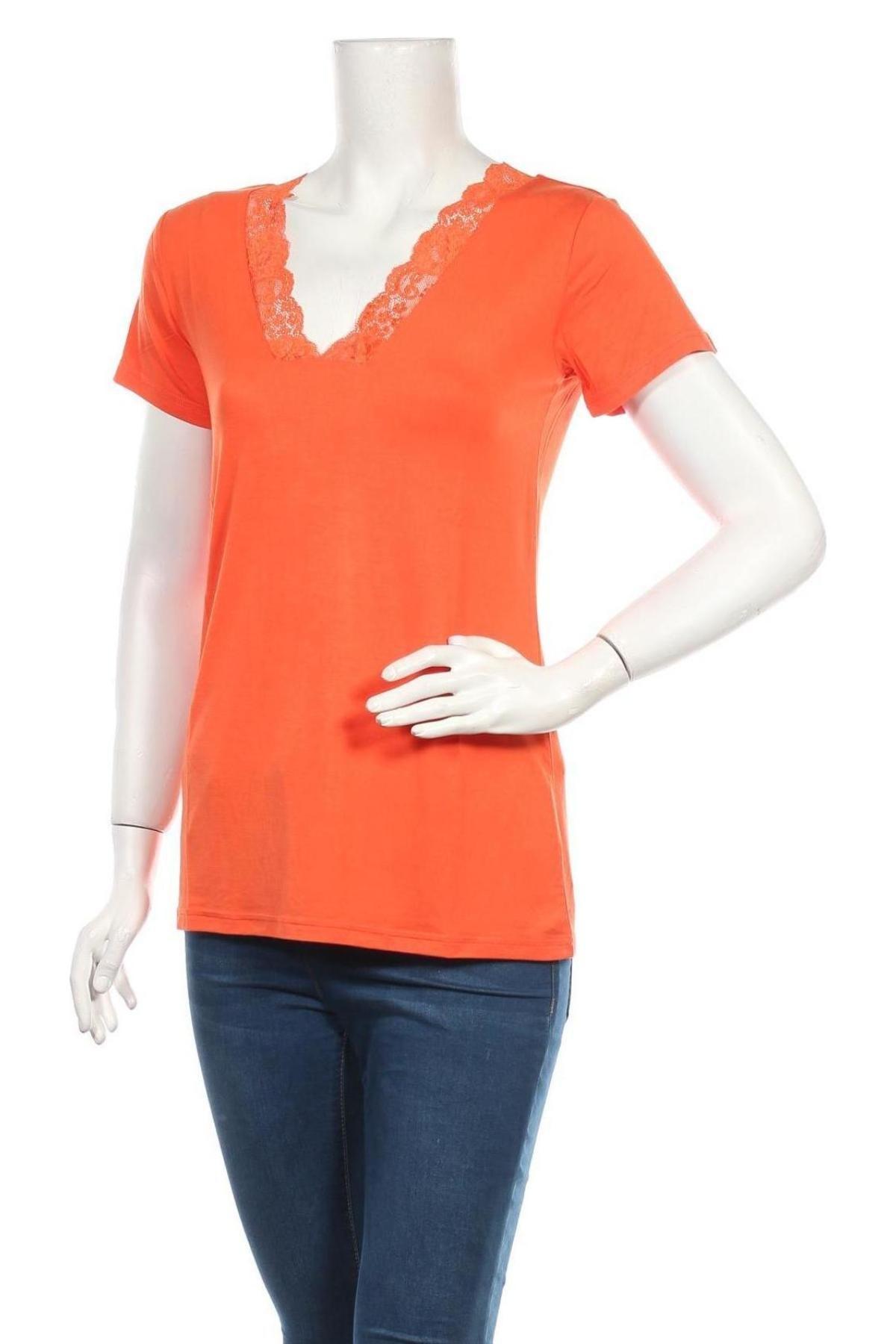 Дамска блуза Culture, Размер M, Цвят Оранжев, 95% вискоза, 5% еластан, Цена 39,00лв.