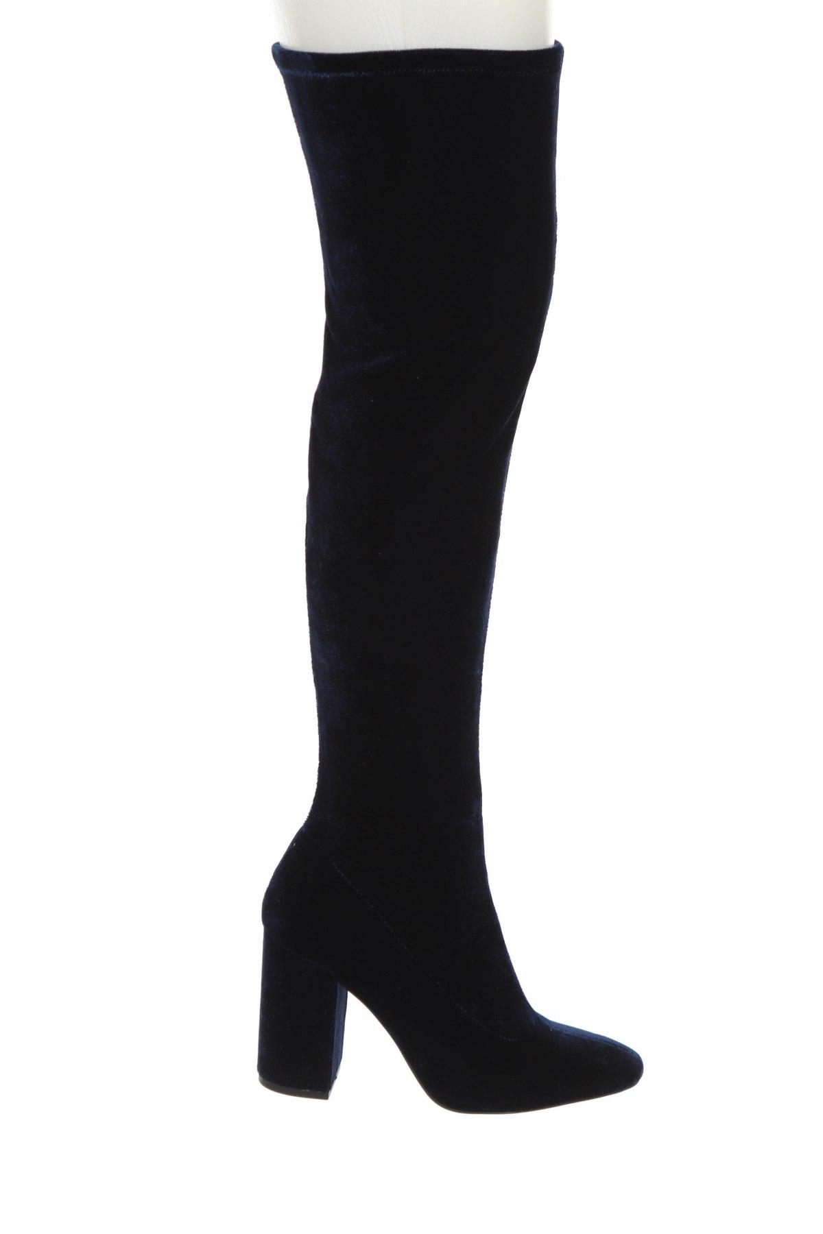 Γυναικείες μπότες Zara, Μέγεθος 39, Χρώμα Μπλέ, Κλωστοϋφαντουργικά προϊόντα, Τιμή 42,14€