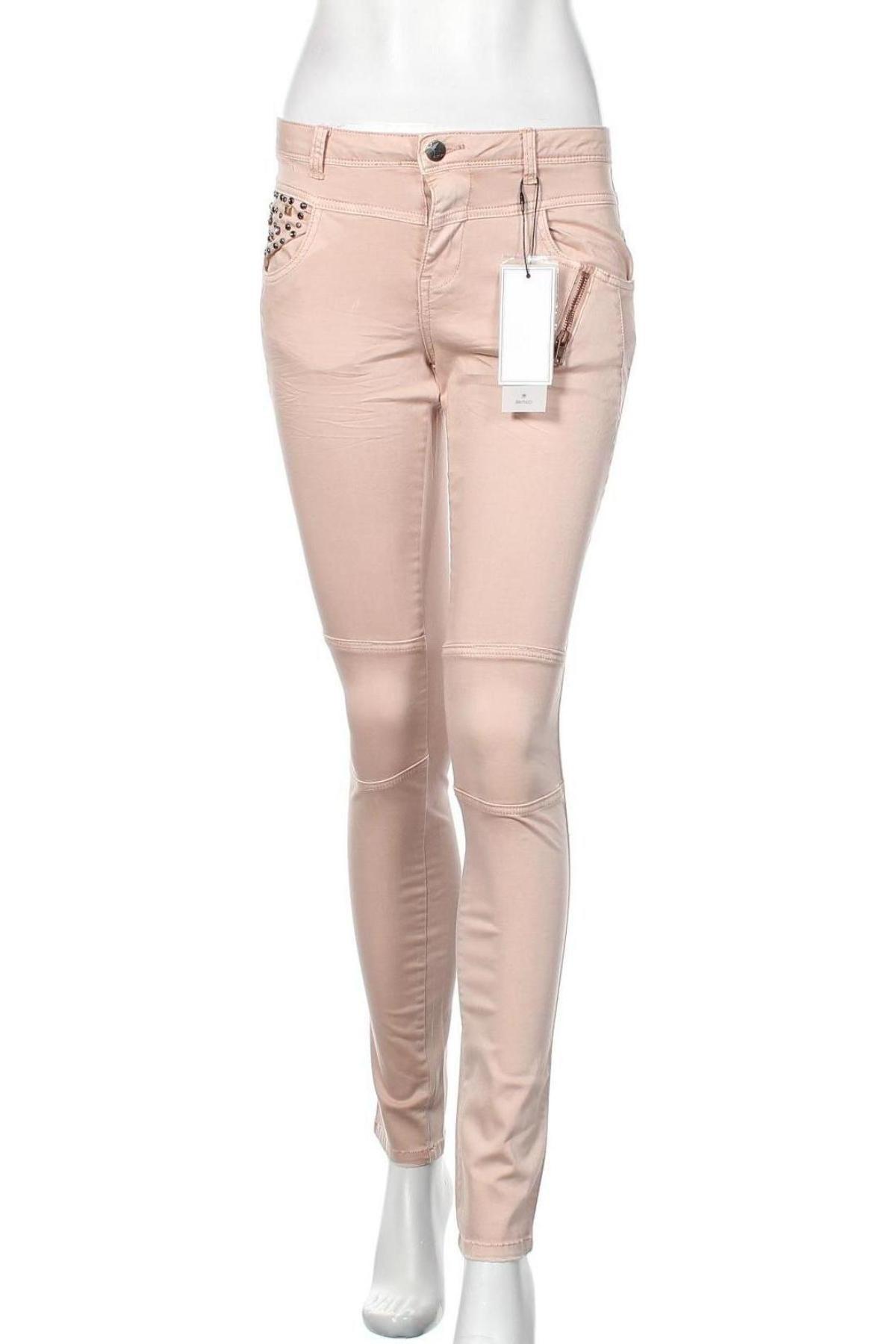 Дамски панталон Culture, Размер S, Цвят Розов, 98% памук, 2% еластан, Цена 23,80лв.